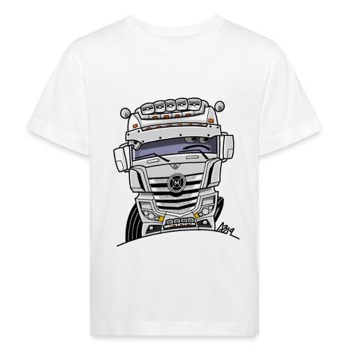 0807 M truck wit - Kinderen Bio-T-shirt