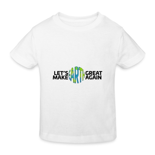 Let's Make Earth Great Again Banner - Ekologisk T-shirt barn
