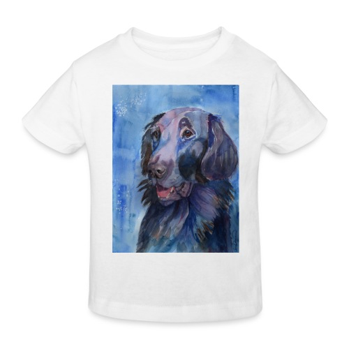 flatcoated retriever - watercolor - Organic børne shirt