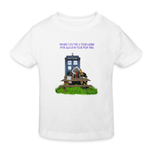 TIME AND SPACE AND TEA - Kids' Organic T-Shirt