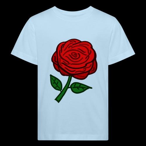 Rote Rose - Kinder Bio-T-Shirt