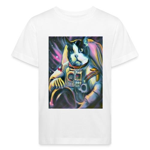 Gato Astronauta - Camiseta ecológica niño