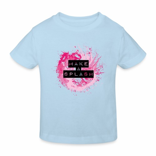 Make a Splash - Aquarell Design - Kinder Bio-T-Shirt
