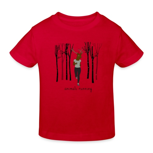 Cerf running - T-shirt bio Enfant