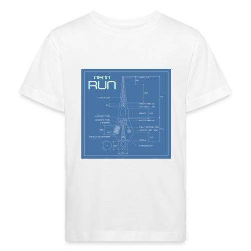 NeonRun blueprint - Kinderen Bio-T-shirt