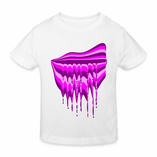 Fantaisie violet rose - Kids' Organic T-Shirt