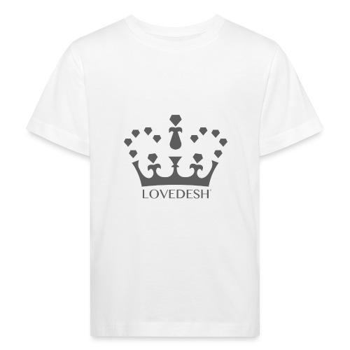 Lovedesh Crown (Dark Grey) - Kids' Organic T-Shirt