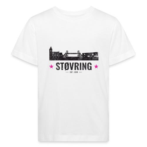 Støvring City Black Magenta - Organic børne shirt