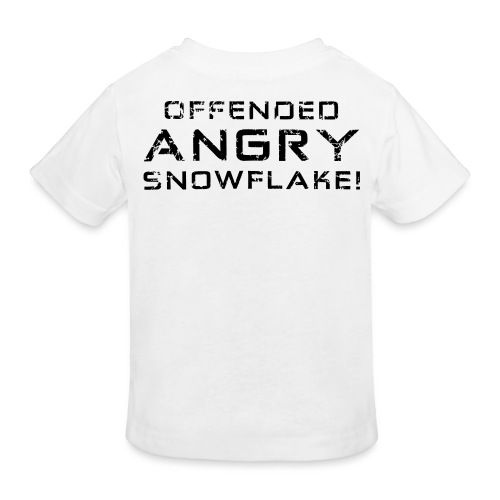 Black Negant logo + OFFENDED ANGRY SNOWFLAKE! - Organic børne shirt