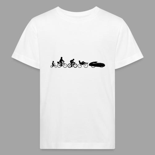 Bicycle evolution black - Lasten luonnonmukainen t-paita