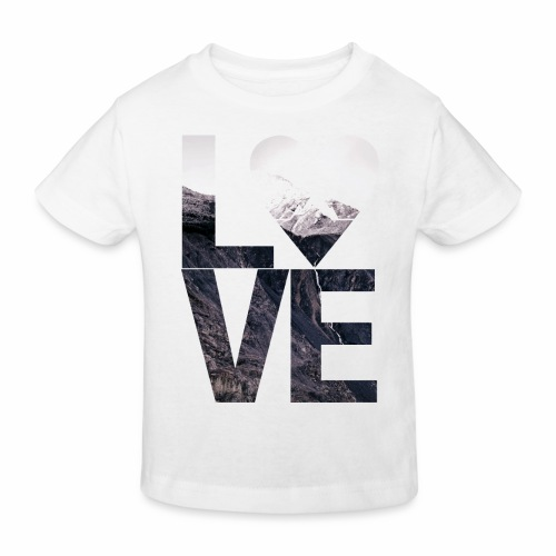 L.O.V.E - Mountains - Kinder Bio-T-Shirt