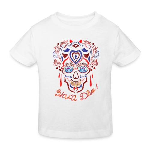 Skull Tattoo Art - Kids' Organic T-Shirt