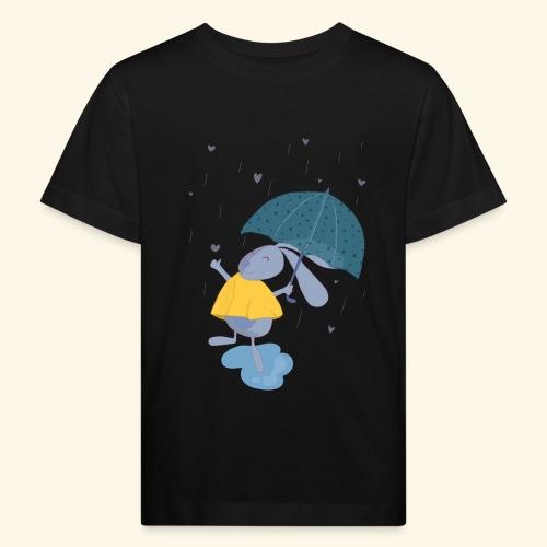 happy in the rain - Kids' Organic T-Shirt