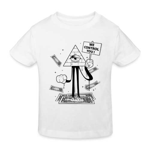 We Control You - Conspiration Design - T-shirt bio Enfant
