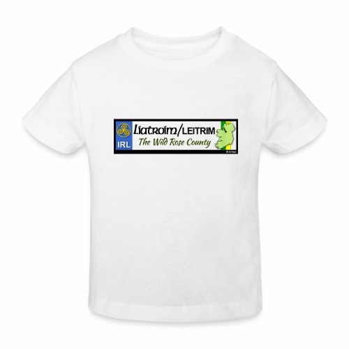 LEITRIM, IRELAND: licence plate tag style decal eu - Kids' Organic T-Shirt