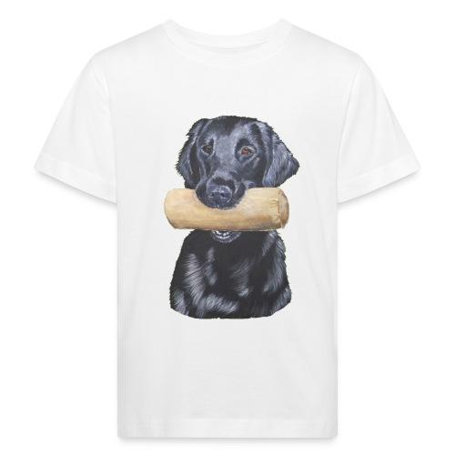 flatcoated retriever Dumbbell - Organic børne shirt