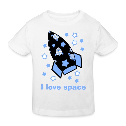 I love space - Maglietta ecologica per bambini