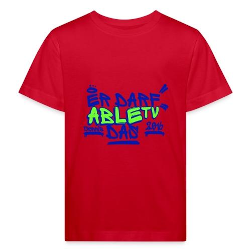 AbleTV Grafitti Logo Marken Shirt (Er Darf Das) - Kinder Bio-T-Shirt
