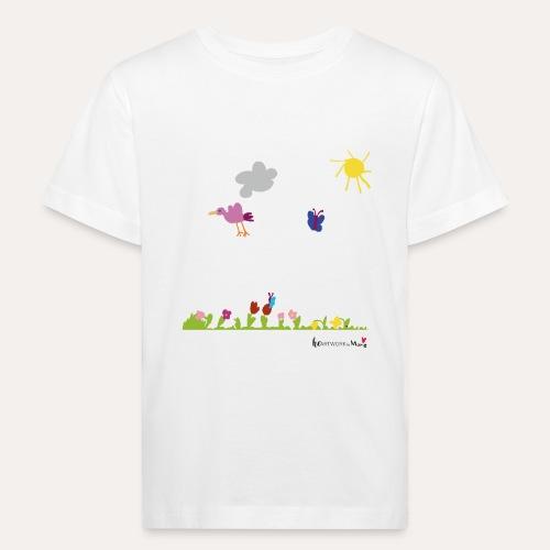 Blumenwiese von Marie - Kinder Bio-T-Shirt