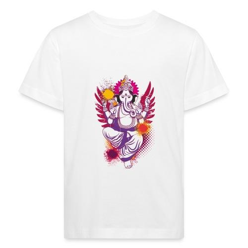 Ganesha farbenfroh dein Glücksgott - Kinder Bio-T-Shirt