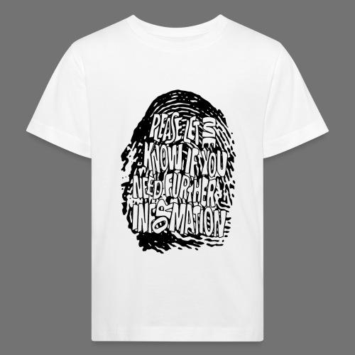Fingerprint DNA (black) - Kinder Bio-T-Shirt