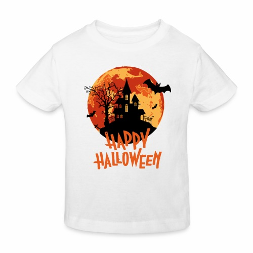 Bloodmoon Haunted House Halloween Design - Kinder Bio-T-Shirt