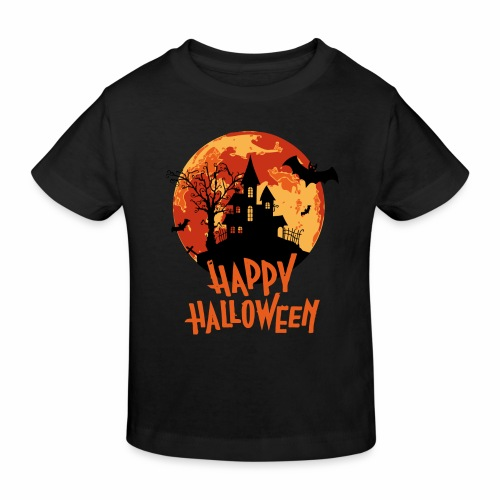 Bloodmoon Haunted House Halloween Design - Kinder Bio-T-Shirt