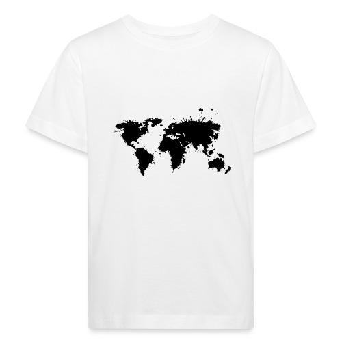 Weltkarte Splash - Kinder Bio-T-Shirt