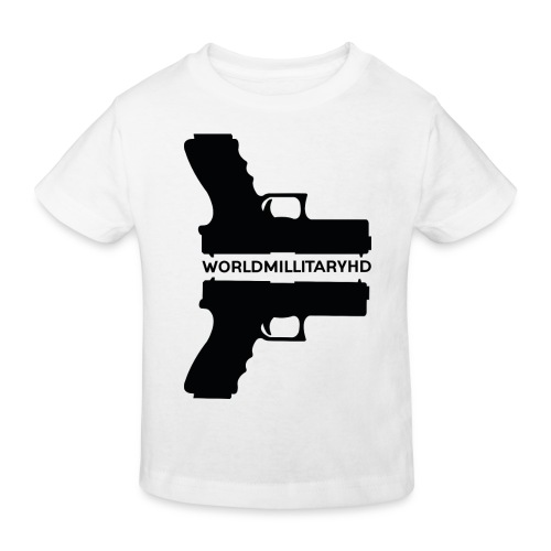 WorldMilitaryHD Glock design (black) - Kinderen Bio-T-shirt