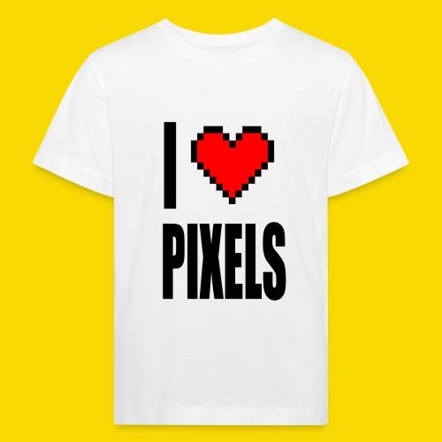 I Love Pixels - Ekologiczna koszulka dziecięca