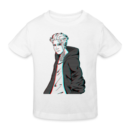 Cyber Glitch Guy - Kids' Organic T-Shirt
