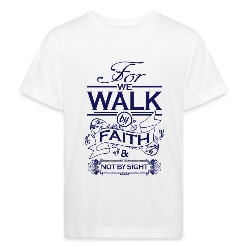 walk navy - Kids' Organic T-Shirt