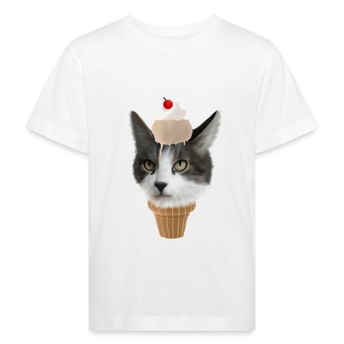 Ice Cream Cat - Kinder Bio-T-Shirt
