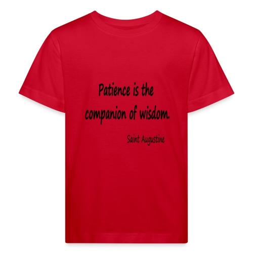 Peace and Wisdom - Kids' Organic T-Shirt