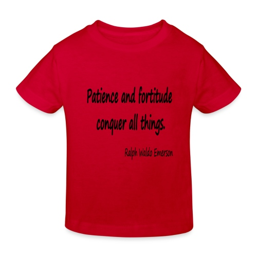 Peace and Patience - Kids' Organic T-Shirt