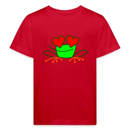 Frog in Love - Kids' Organic T-Shirt