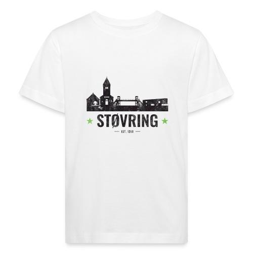 Støvring City Black Green - Organic børne shirt