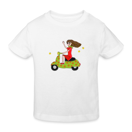 Mit dem Moped in den Sommer - Kinder Bio-T-Shirt