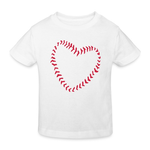 2581172 1029128891 Baseball Heart Of Seams - Kids' Organic T-Shirt