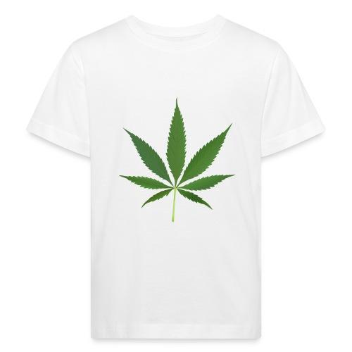 2000px-Cannabis_leaf_2 - Organic børne shirt