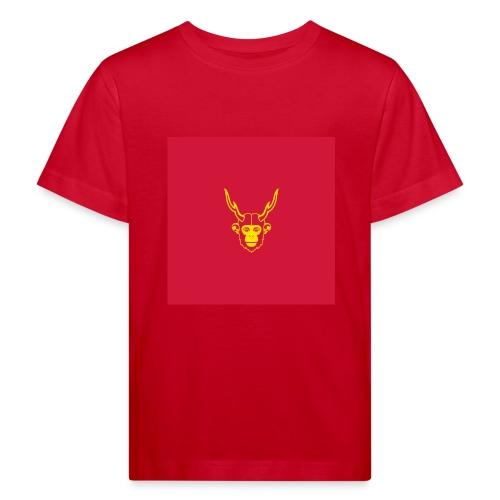 scimmiacervo sfondo rosso - Maglietta ecologica per bambini