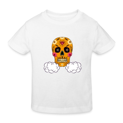 skul orange png - T-shirt bio Enfant