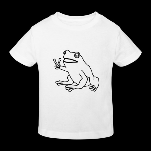 Funny Animal Frog Frosch - Kinder Bio-T-Shirt