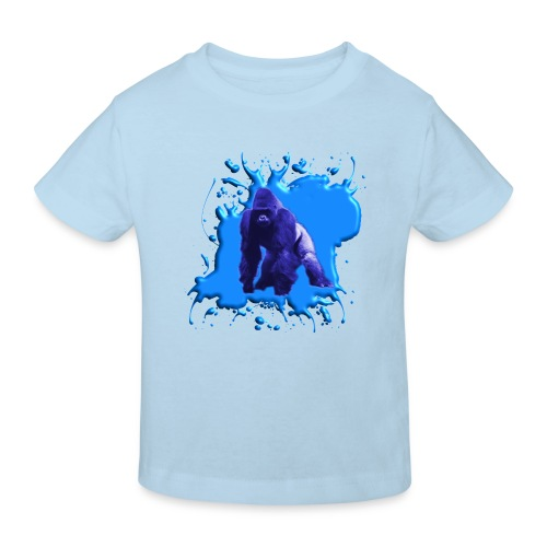 Blauer Gorilla - Kinder Bio-T-Shirt