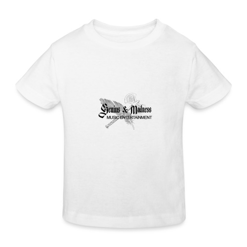 Genius and Madness White Edition - Kinder Bio-T-Shirt