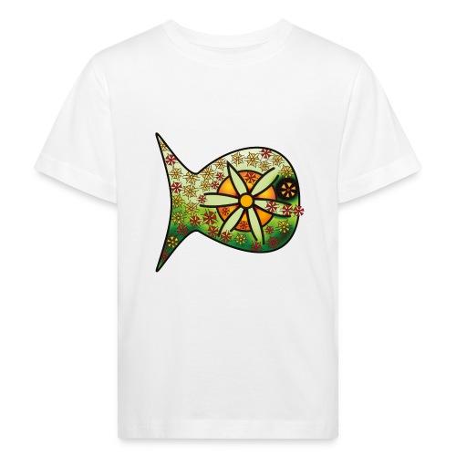 Blüten Fischdesign - Kinder Bio-T-Shirt