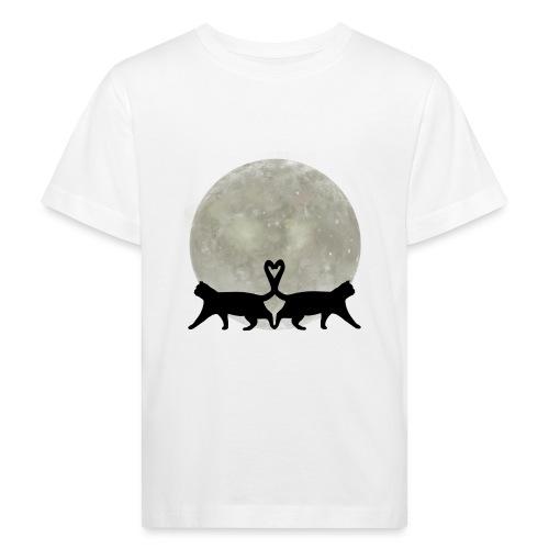 Cats in the moonlight - Kinderen Bio-T-shirt