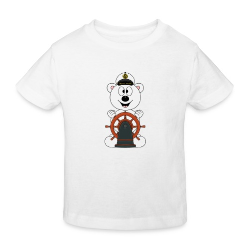 EISBÄR - BOOT - SCHIFF - KAPITÄN - MEER - SEE - Kinder Bio-T-Shirt