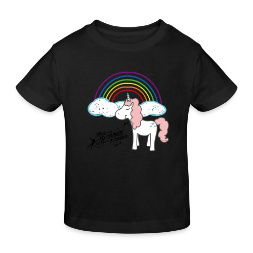 Licorne arc-en-ciel - T-shirt bio Enfant
