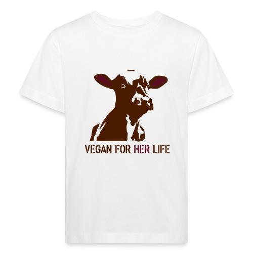 vegan for her life - Kinder Bio-T-Shirt